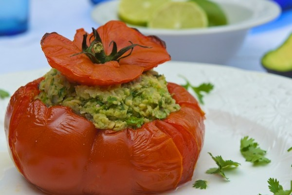 Healthy stuffed tomatoes for july 4