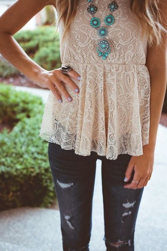 Stagecoach Festival_Lace Top