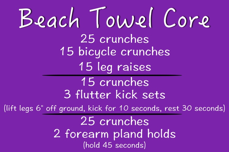 beach towel workout - how to get in shape instantly - tips