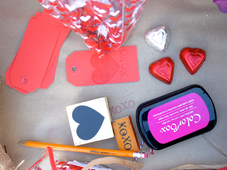 DIY Card with V-Day stamps
