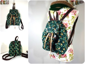 Ditsy Abstract Floral Backpack