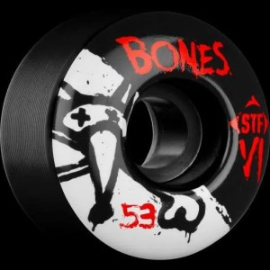 53mm Bones V1 Series Black Streettech Formula Wheels