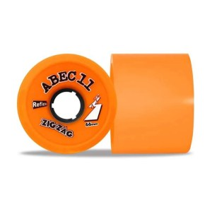 66mm ABEC11 Zigzag Orange Wheels