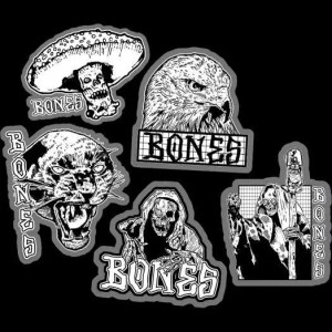 Bones Night Watch Stickers