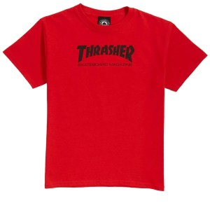 Thrasher Skate Mag Shirt Red Youth XS