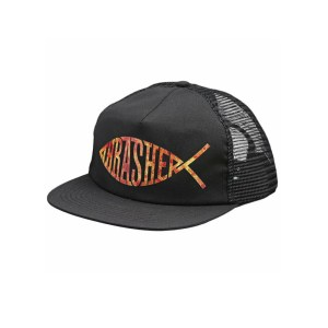 Thrasher Fish Mesh Trucker Snapback Black