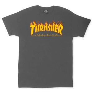 Thrasher Flame Logo Charcoal XXL