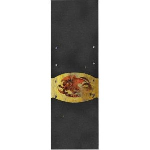 10.5″ Powell Peralta Oval Dragon Grip Tape Gold/ Black