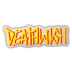 Deathwish Deathspray Sticker Yellow