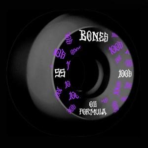 55mm Bones 100's Black V5 Sidecut OG Formula