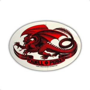 Powell Peralta Oval Dragon Sticker Red