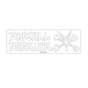 Powell Peralta Vato Rat Sticker Clear/ White