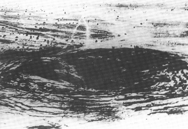 Crater from nuclear explosion at Pokhran - 1974