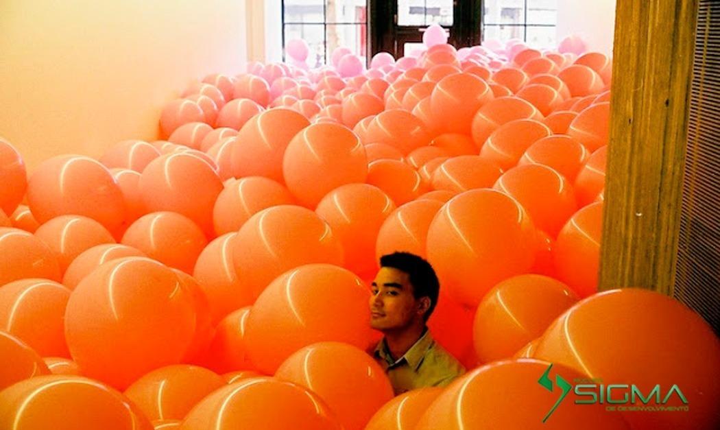 Balões na Sala