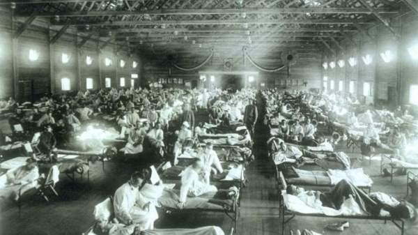 Γρίππη 1918 - Στρατιωτικό νοσοκομείο