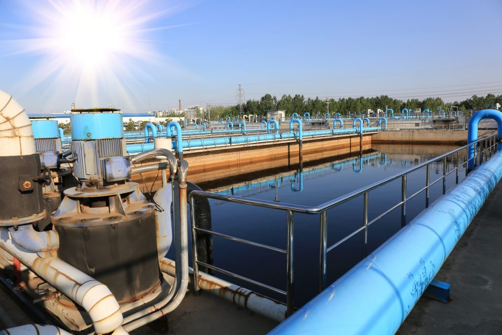 water treatment plant with scada