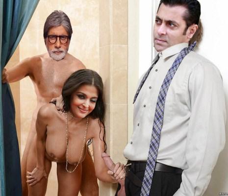 Old naked actress Aishwarya Rai busty boobs handjob