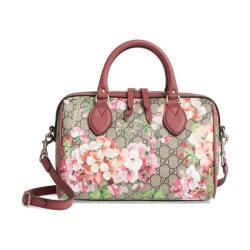 37243eaf1e4 Gucci Small Blooms Top Handle Gg Supreme Canvas Bag Nudevotion