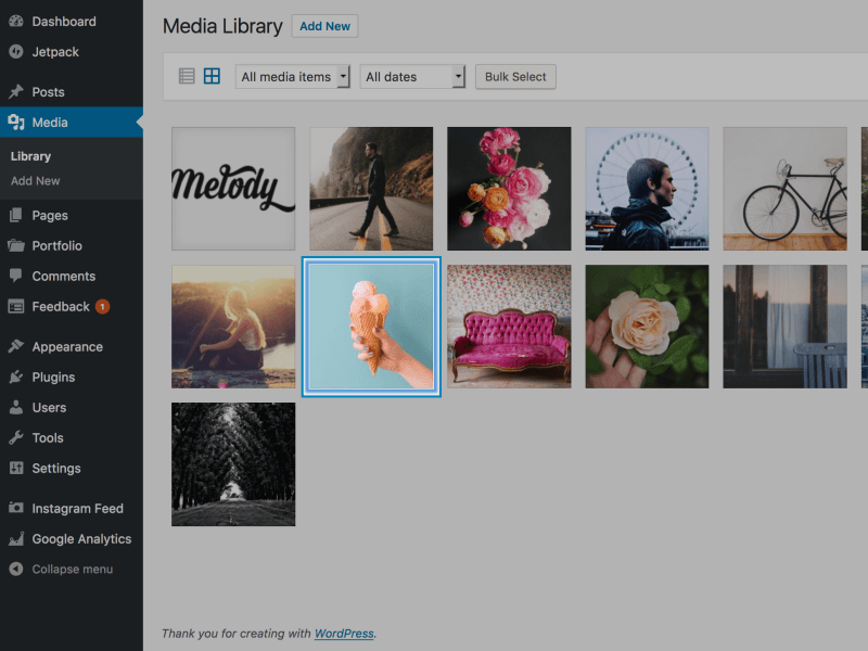 Melody About Me Media Library