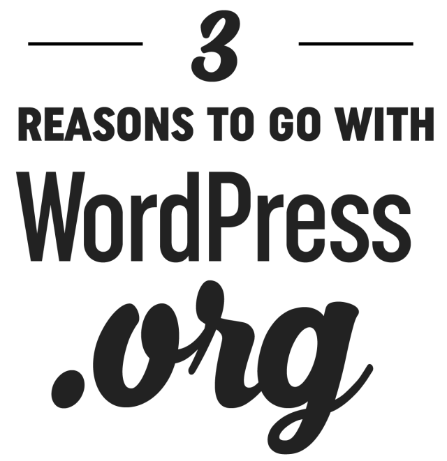 WordPress.com vs WordPress.org - Why .org