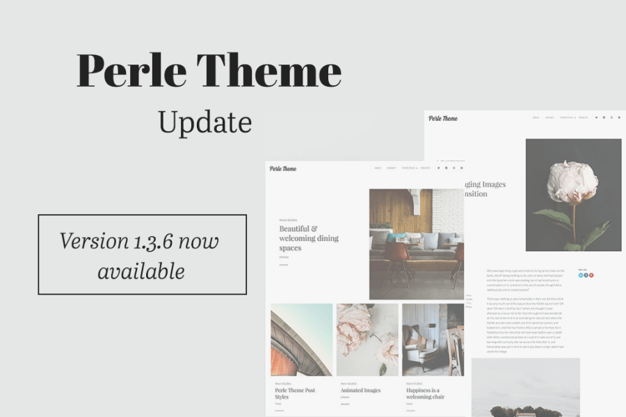 Perle Theme Update