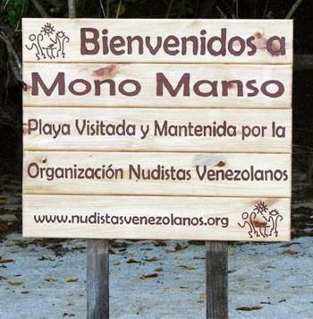 Nudistas Venezolanos - Aviso Mono Manso