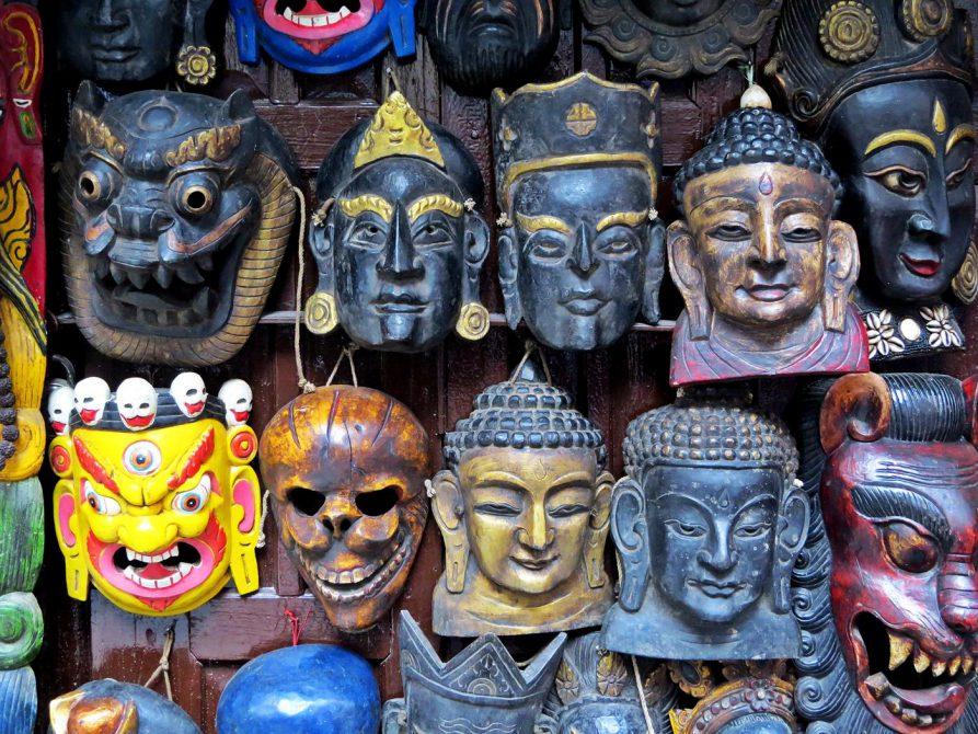 Holzmasken, Freak Street, Kathmandu