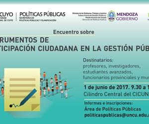 """1 de Junio. Jornada """" Instrumentos de participación ciudadana en la gestión pública"""""""