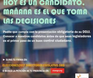Campaña: DDJJ. ¿Por qué los candidatos deben presentar las DDDJJ?