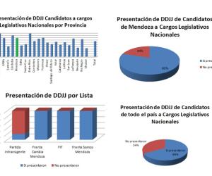 Elecciones 2017: el 80% de los candidatos mendocinos presentaron sus DDJJ