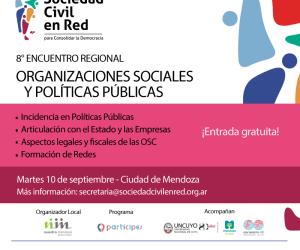 """Llega a Mendoza el Encuentro Regional """"Sociedad Civil en Red"""""""