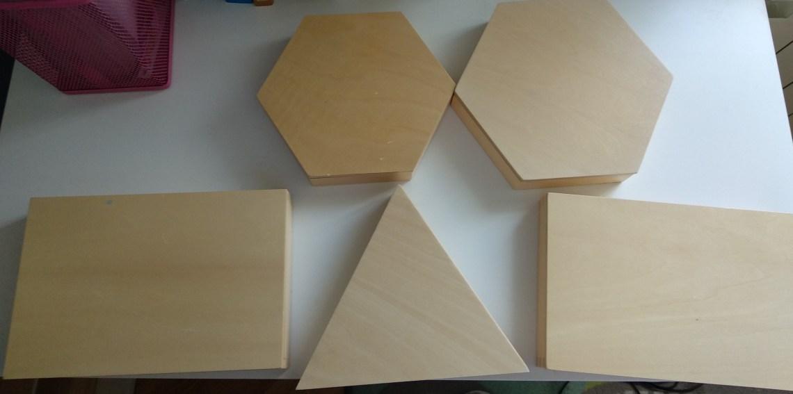 los triangulos constructivos Montessori