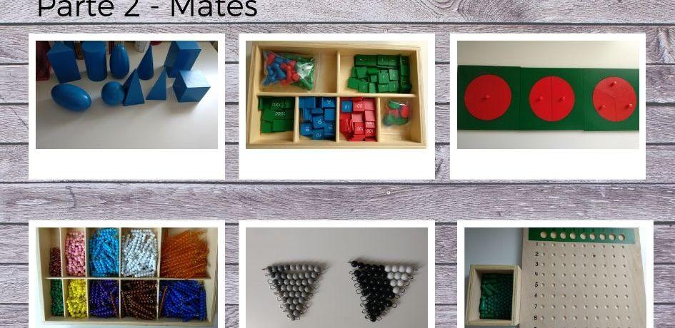 que materiales Montessori debo de tener en casa? Parte 2 - Mates