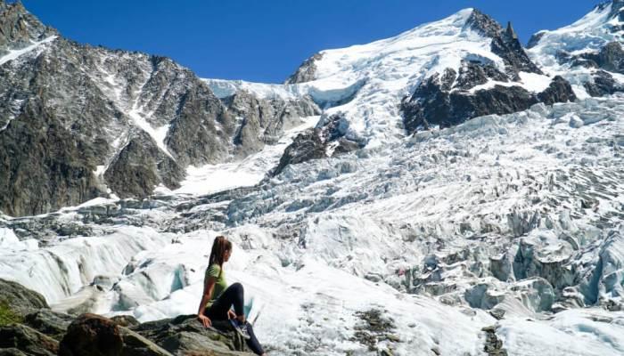 La Jonction, ruta entre glaciares