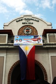 a Philippine flag at the Provincial Old Capitol during the June 12 Independence day celebration