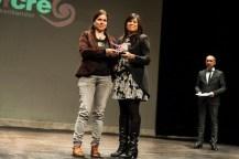Ana Rodríguez recoge el Premio al Mejor Documental de manos de la concejala de Cultura de Santander, Miriam Díaz