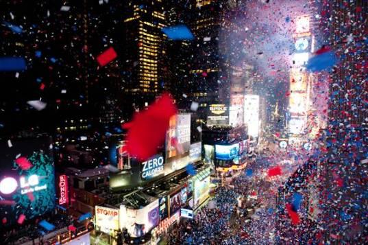Diciembre iluminado en Times Square