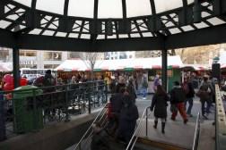 La estación de Union Square paso obligado para las compras de fin de año. Foto de Will Steacy