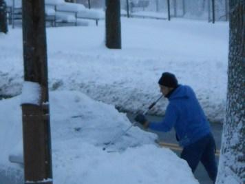Limpieza antes de que se congele la nieve