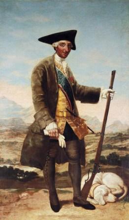 Cuadro de la colección BBVA de Francisco de Goya y Lucientes (Fuendetodos, Zaragoza, 1746 – Burdeos, 1828)titulado: Retrato de Carlos III cazador (h. 1787-1788) Foto cedida.