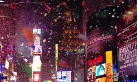 A la espera del año nuevo en Times Square