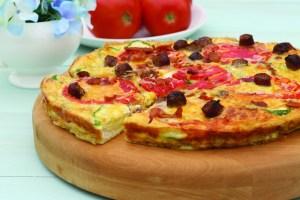 Pizza-omelette para el desayuno