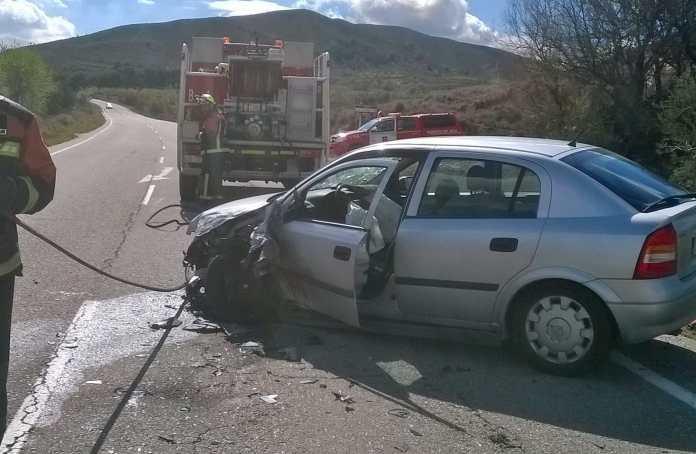 Imagen del Diario Digital NueveCuatroUno.com sobre el accidente de ayer en Arnedo