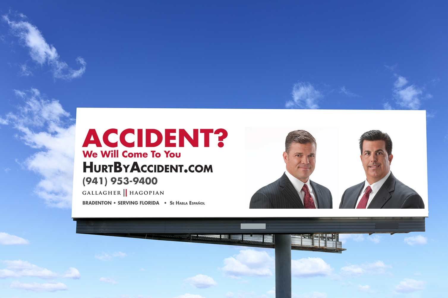 Gallagher and Hagopian billboard design