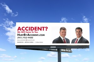 Gallagher and Hagopian billboard design