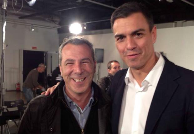 Pablo Sánchez y Pedro Sánchez. FOTO: Facebook del hasta ahora candidato socialista
