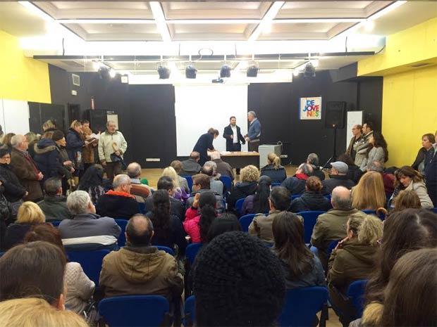 Reunión urgente de ULEG celebrada hoy con afectados por el cierre de Funnydent en Leganés