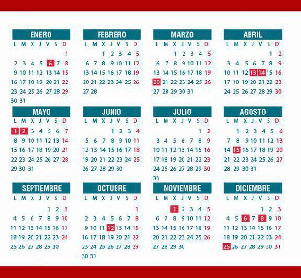 Calendario laboral y festivo en la Comunidad de Madrid para 2017 ...