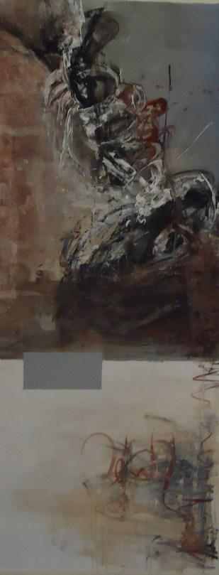 Carola Polizzi. Impulso, acrílico sobre lienzo. 160 x 67,5 cm. 2013. Selección del público: 997 votos