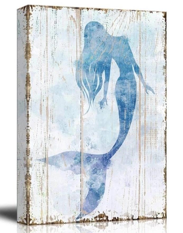 Canvas Mermaid Wall Art